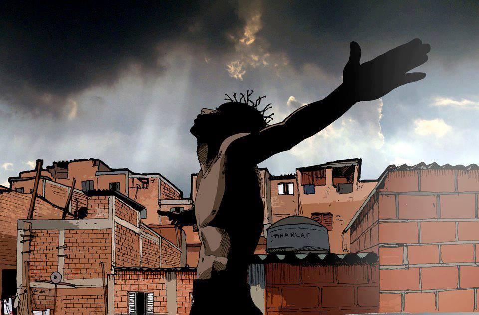 Ilustração de Alexandre de Maio, presente no documentário 'Sabotage: o Maestro do Canão'