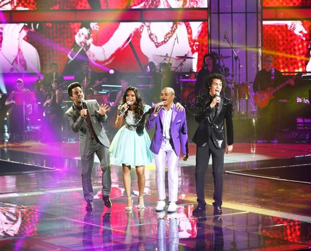 Rubens Daniel, Lucy Alves, Pedro Lima e Sam Alves, finalistas do The Voice Brasil