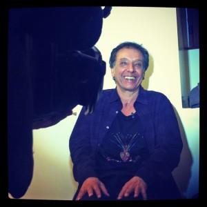 Arnaldo Baptista, no camarim do Teatro Municipal - Foto: Jotabê Medeiros
