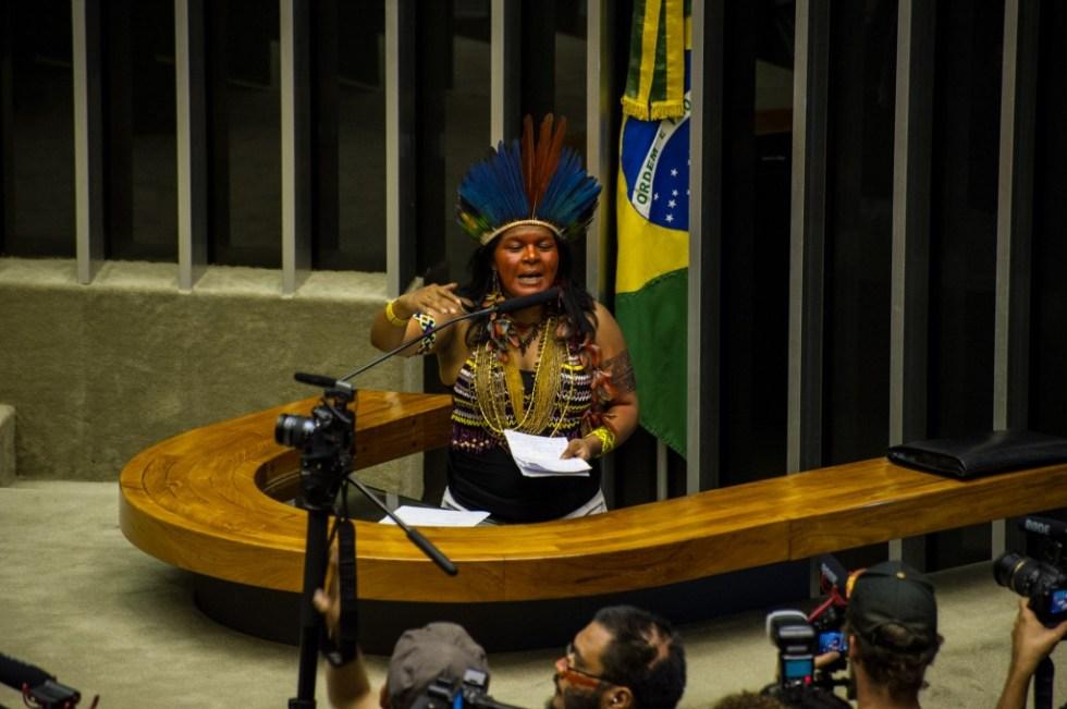 A líder indígena Sônia Guanabara - foto Jardiel Carvalho