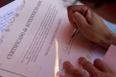 certificado de autenticidade