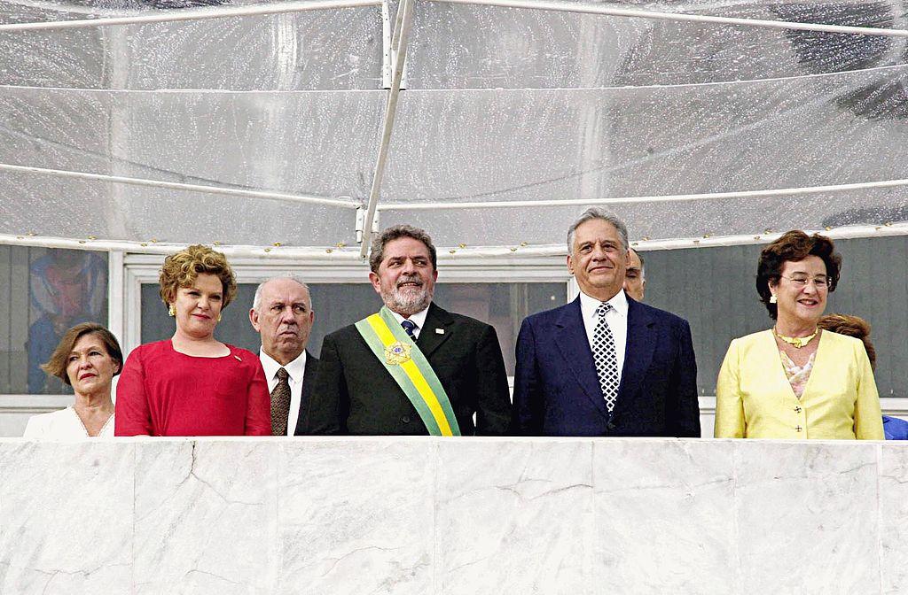 Posse de Lula, que recebeu a Presidência do antecessor FHC - Foto Marcello Casal Jr./ABr