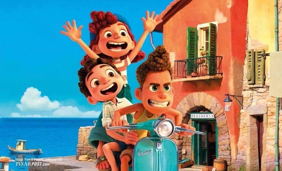 Cena da animação Luca, da Pixar, em exibição na Disney+