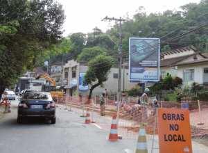 Obras para o tratamento de esgoto em Blumenau - foto do Farol Blumenau