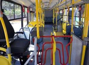 Ônibus da BluMob, concessionaria do transporte coletivo em Blumenau - foto de Eraldo Schnaider