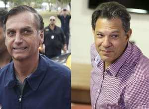 Candidatos à Presidência Jair Bolsonaro (PSL) e Fernando Haddad (PT) (Arquivo/Tânia Regô / Marcelo Camargo / Agência Brasil)
