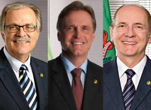 Dalírio Beber, Dário Berger e Paulo Bauer (Senado Federal)