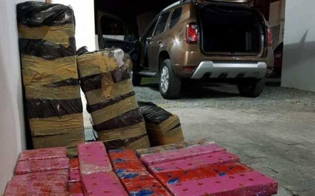 Ação da PRF e PM resulta na apreensão de 244 quilos de maconha - foto da PRF
