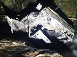 Veículo ficou retorcido após incêndio - foto do Corpo de Bombeiros MIlitar
