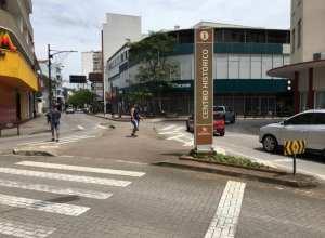 Modificações no final da Rua São Paulo começam na segunda-feira - foto da Prefeitura de Blumenau