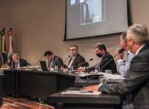 CPI dos Respiradores da Alesc, durante reunião - foto de Bruno Collaço