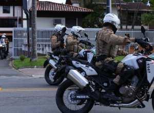 Rocam durante operação em Blumenau - foto da Polícia Militar