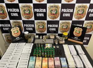 Materiais encontrados em posse de presos - foto da Polícia Civil