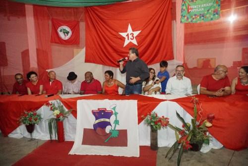 Resultado de imagem para foto da bandeira do PT em Serra Talhada