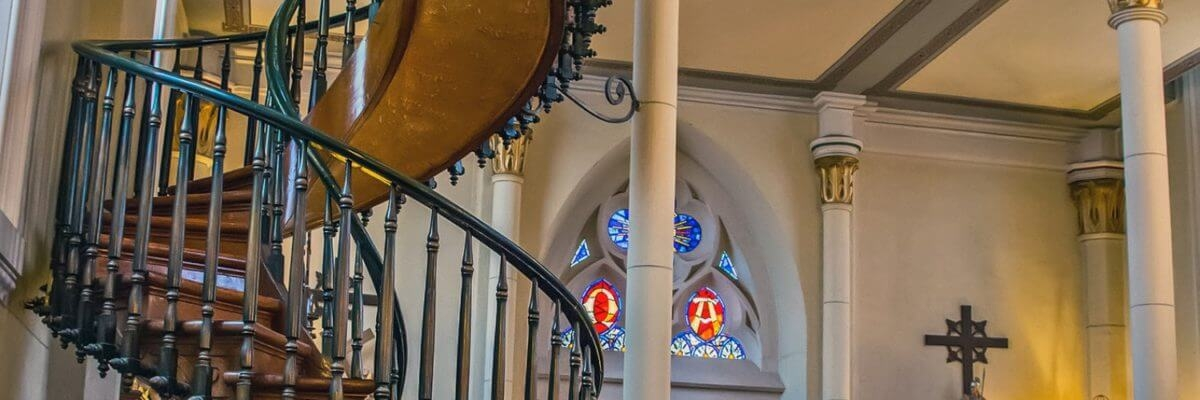 3 Reasons You Need To Visit Loretto Chapel In Santa Fe El Farolito   Stairway Of Loretto Chapel   Original   Sister   Story   Spiral   Mysterious