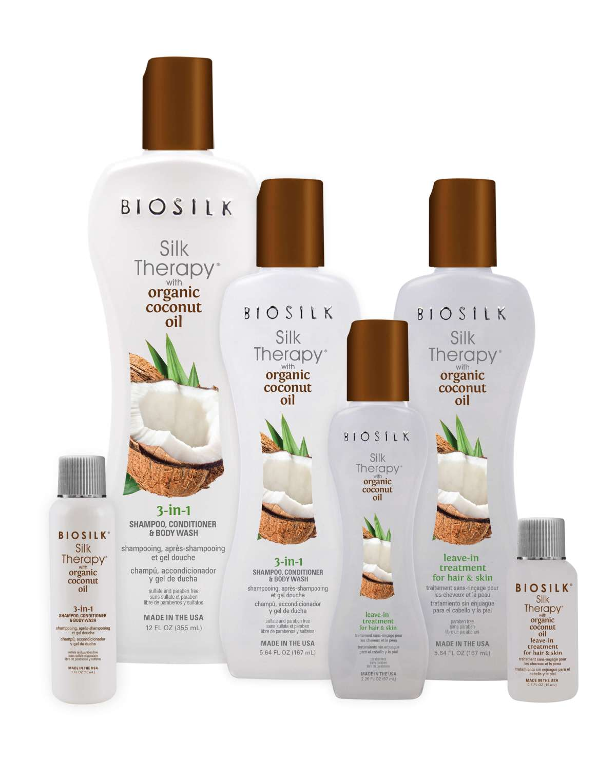 Biosilk Silk Therapy Coconut Oil Group - Biosilk Organic Coconut Oil