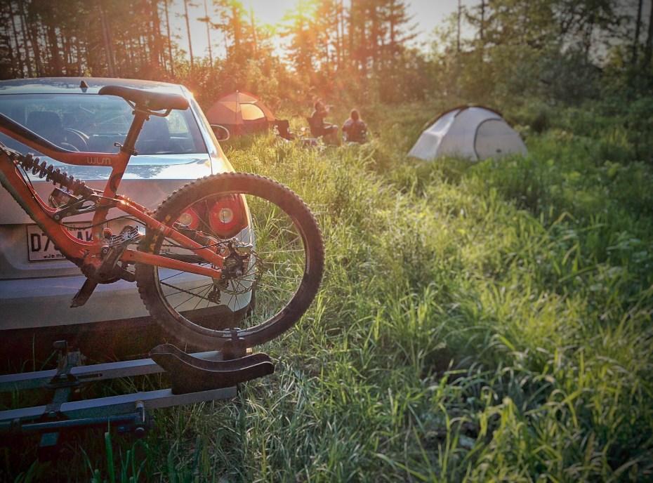 dh bike camping beer