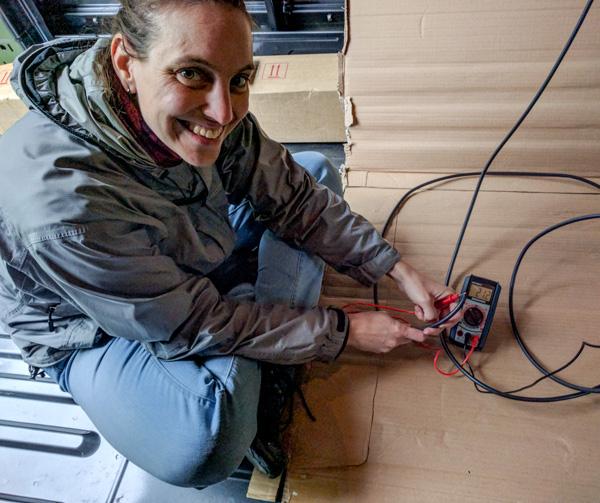 Solar Panel InstallationSolar Panel Installation, testing the voltage, testing the voltage