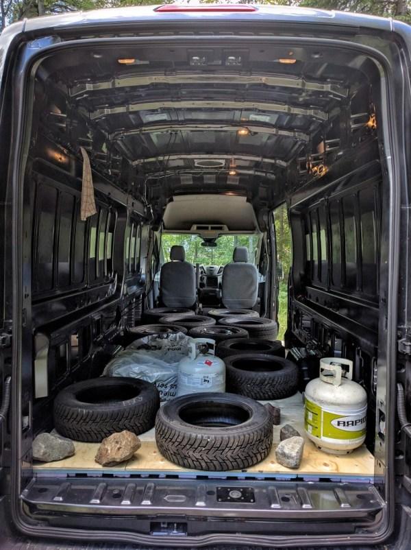 Van Conversion, Floor, weight on top