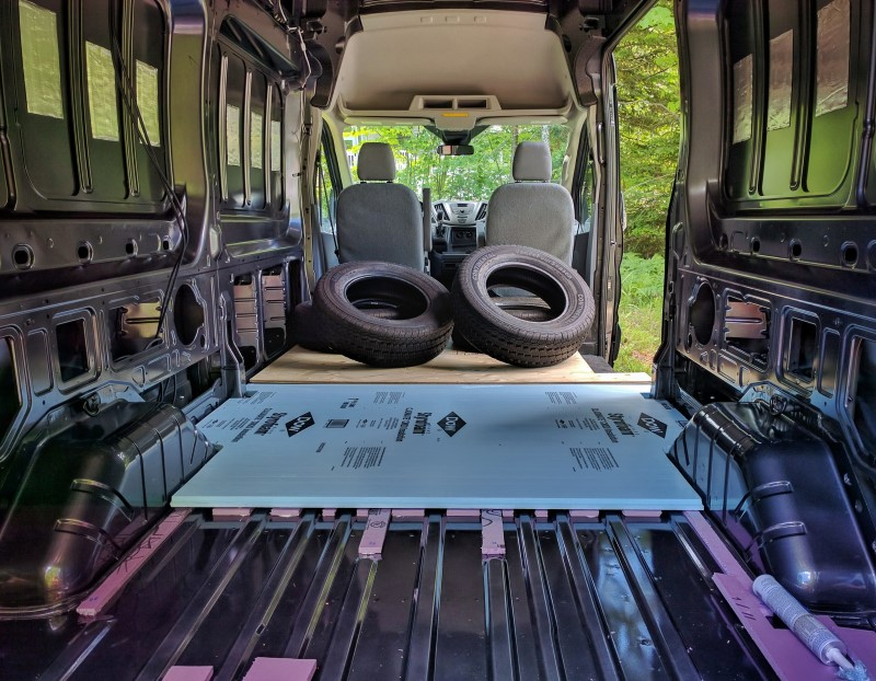Van Conversion, Floor, weigth on top
