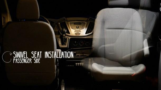 Van Conversion, Swivel Seat Installation (resized)