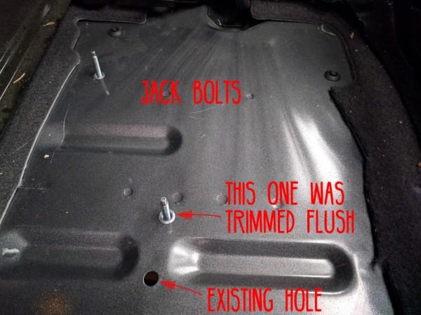 Van Conversion Webasto Air Heater, jack bolt trim flush