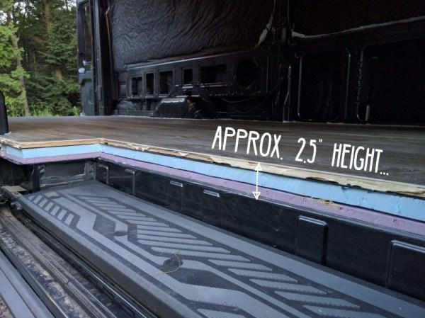 Van Conversion Floor Layers Height