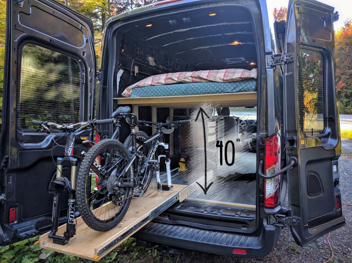 Ford Transit Camper Van Rv Mountain Bike Clearance