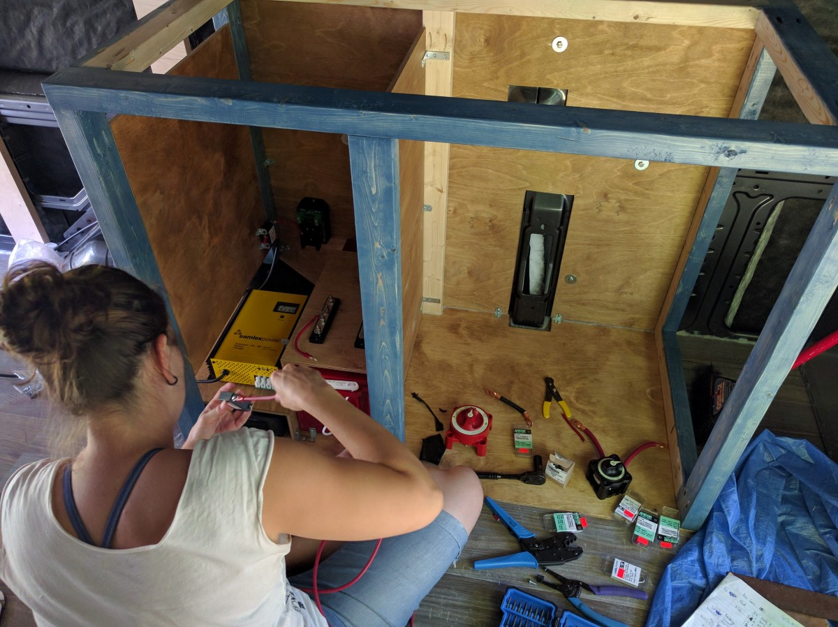 Electrical System Installation Van Conversion 9