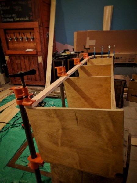 Overhead Storage Cabinet Camper Van Conversion (23)