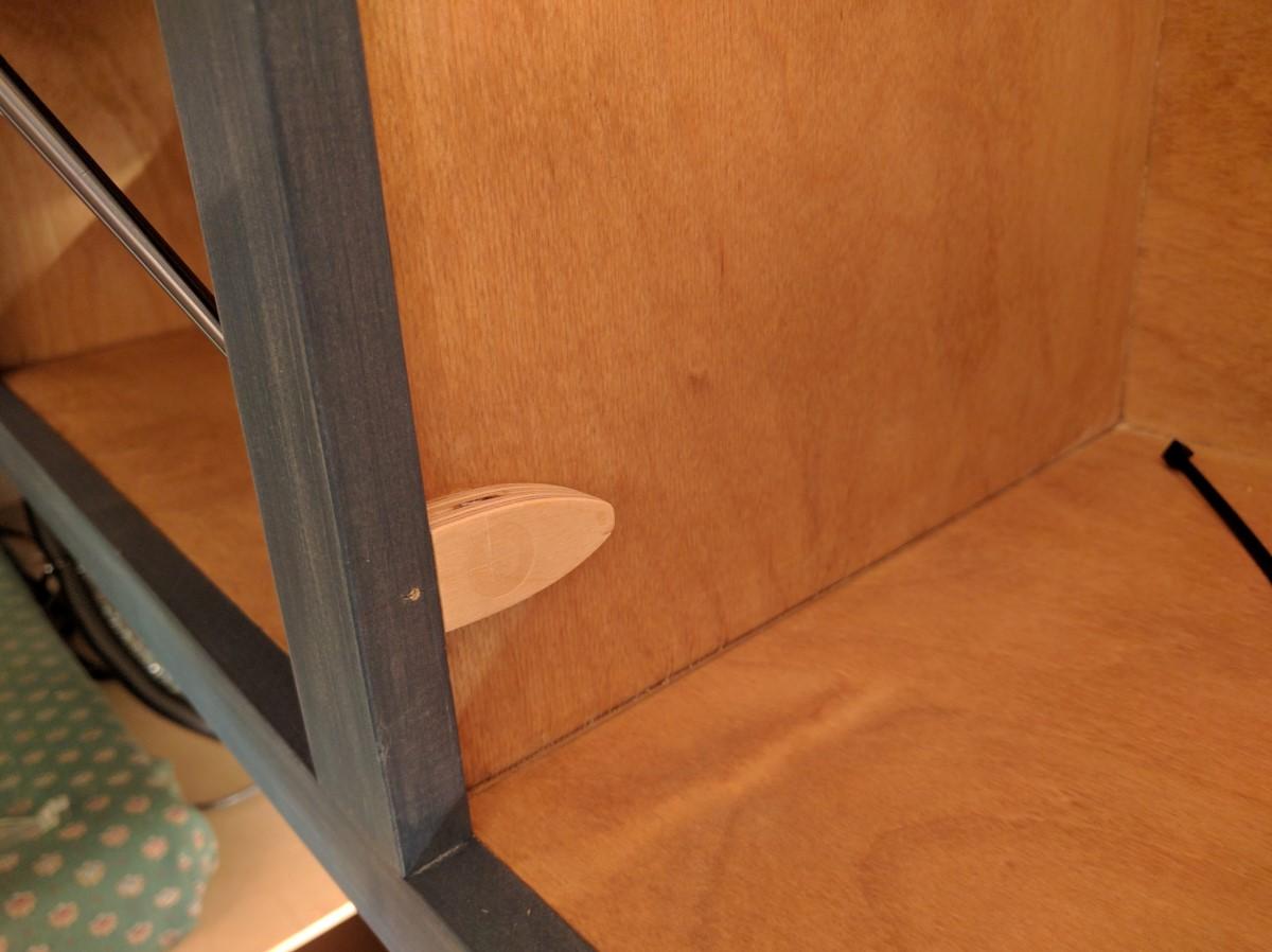 Overhead Storage Cabinet Camper Van Conversion 26