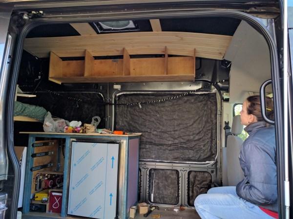 Overhead Storage Cabinet Camper Van Conversion (8)