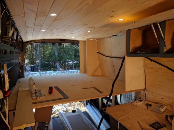 Bed Storage Van Conversion (5)