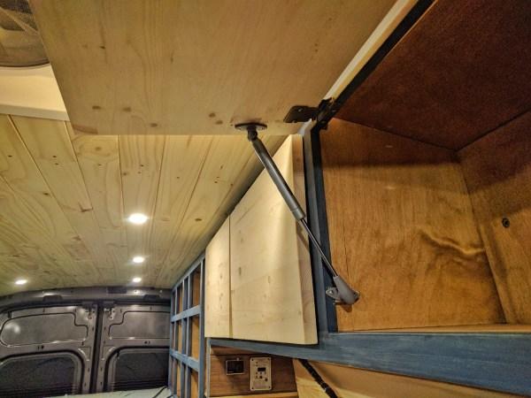 Van Convsersion Overhead cabinet gas spring