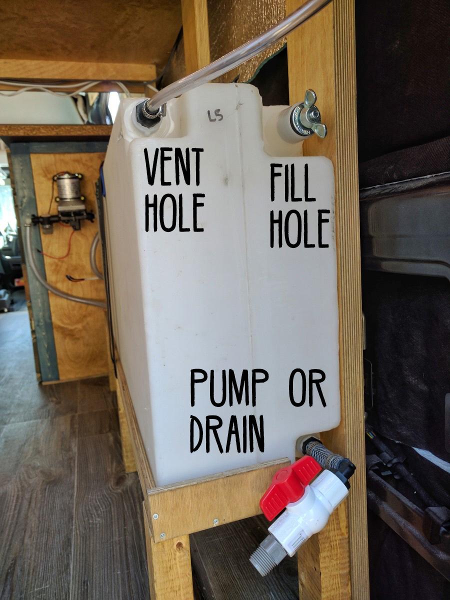 Water System Installation Camper Van Conversion 12 Marked