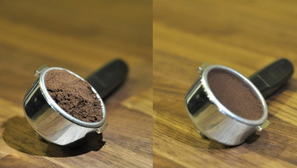 PortaFilter-Coffee Tampered