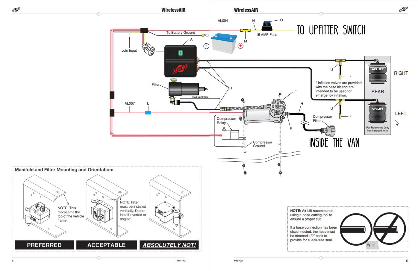 air lift wiring diagram wiring diagram table Truck Air Ride Suspension Diagram