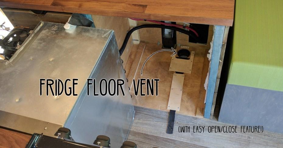 Fridge Floor Vent DIY Campervan Conversion Heading