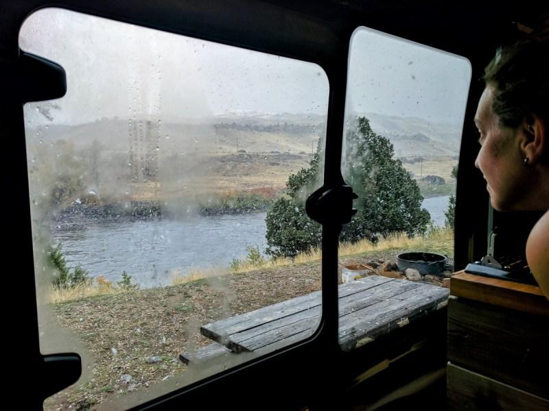 Yellowstone Carbella Recreation Site Free Campsite Van