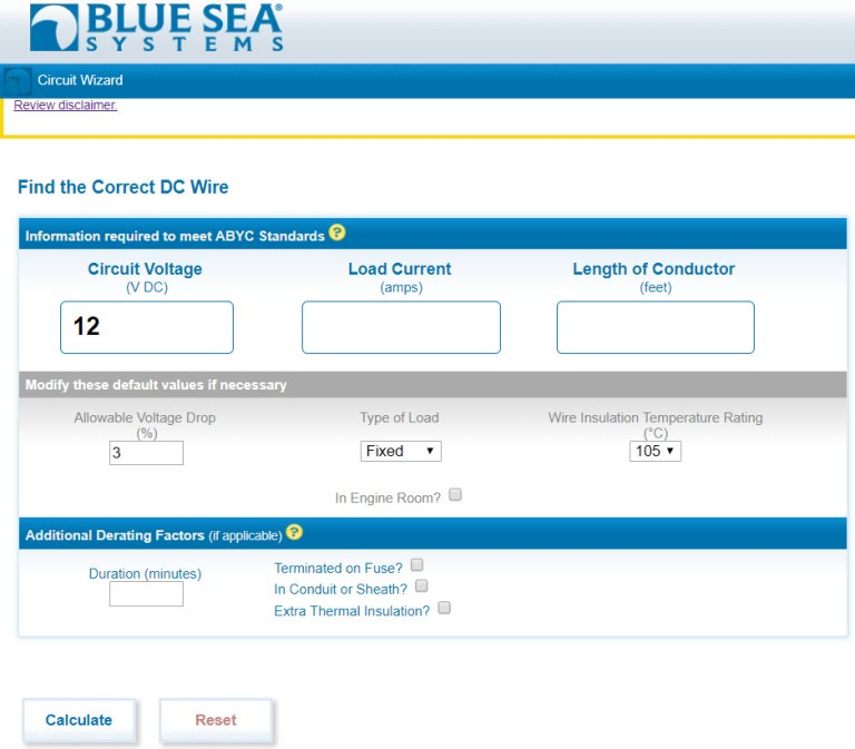 Blue Sea Calculator