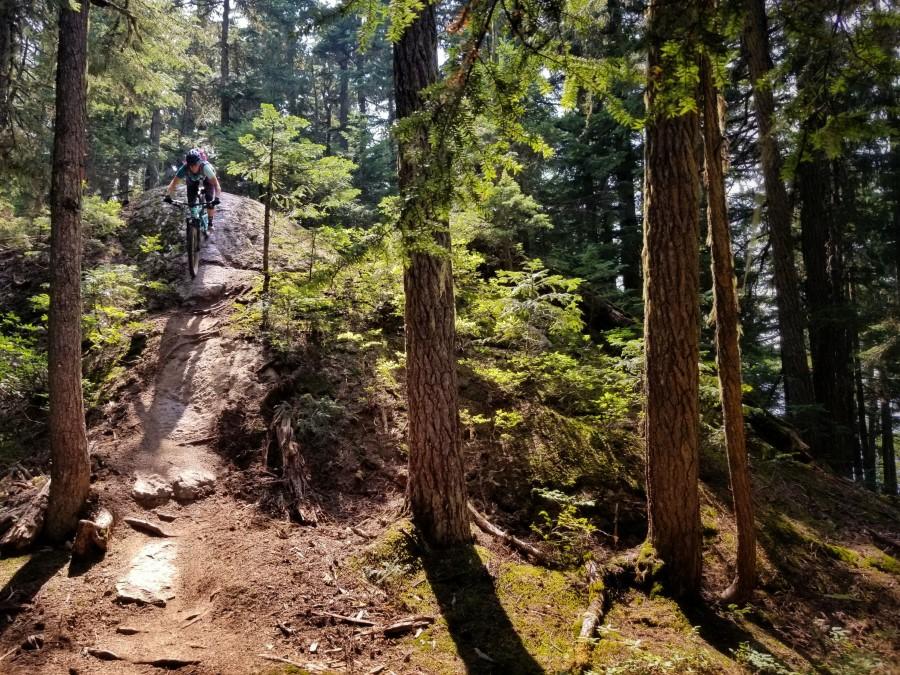 Girl Mountain Biking Whistler