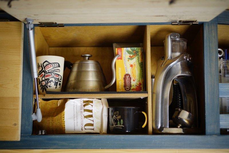 Storage Ideas Van Conversion Overhead Bin