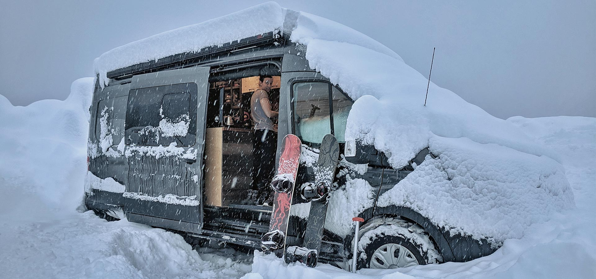 Image result for van life winter instagram""
