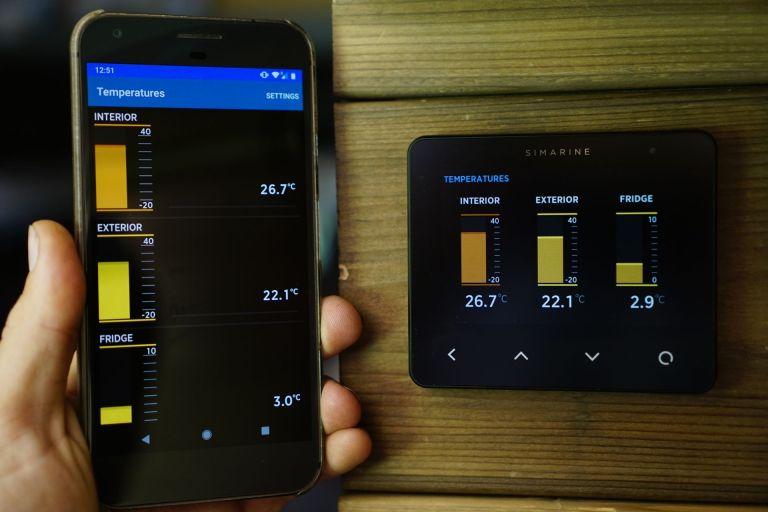Simarine Pico Temperature Screen