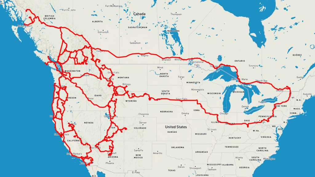 2 Years Vanlife Road Map