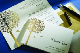 Luxury Wedding Invitations foil Arden 300 x 200