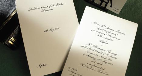Luxury wedding invitations Classic 468 x 250