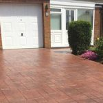 Pattern Imprinted Concrete Driveway Terracotta Farrelly Construction