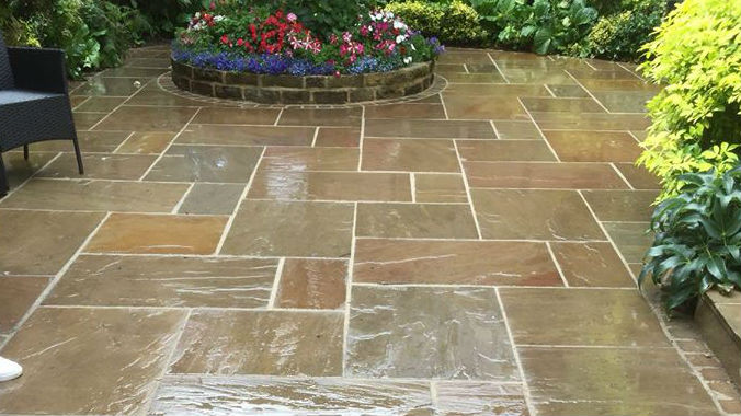 Patio block paving