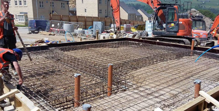 groundworks  concrete steel fixing